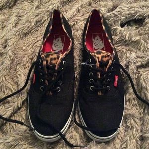 Vans black and leopard. New without tags.